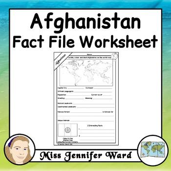 Afghanistan Fact File Worksheet