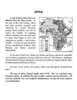 Africa Before WWI and After WWII