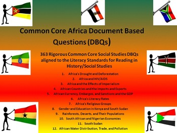 Africa Document Based Questions (DBQs) - 363 DBQs and 12 D