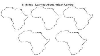 Africa Graphic Organizer