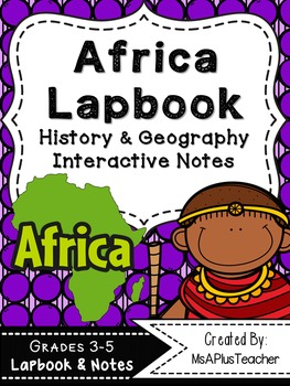 Africa Lapbook & Interactive Notes