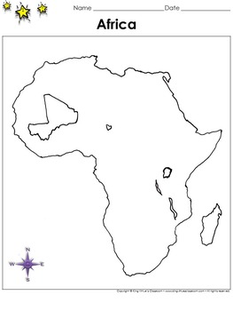 Africa Map - Mali - Blank - Full Page - Continent - Portra