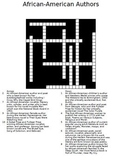 African-American Authors Crossword Puzzle