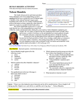African American Biography Comprehension Practice