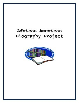Black History Biography Project-Common Core Aligned