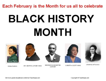 African American History Month  Black History Month  Poste