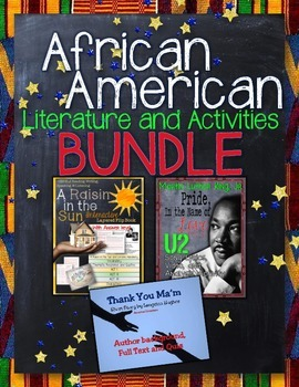 ELA AFRICAN AMERICAN LITERATURE GUIDES AND ACTIVITIES BUNDLE