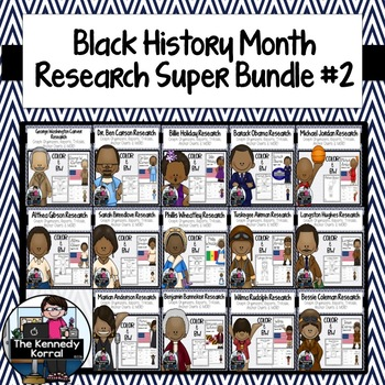 Black History Month BUNDLE 2 {Biography Researh: Reports,