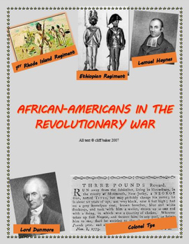 African-Americans in the Revolutionary War - supplemental text