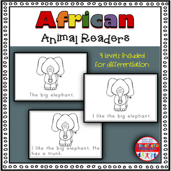 African Animals - A Differentiated Set of Emergent Readers