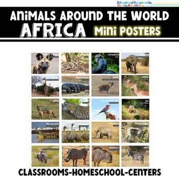 African Animals - Animals Around the World Mini Posters
