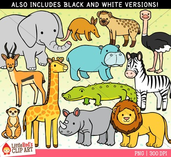 African Animals Clipart