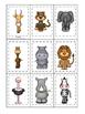 African Animals themed Memory Matching preschool curriculu