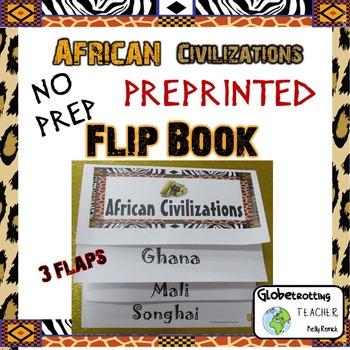African Civilizations Flip Book Pre-printed (Ghana, Mali,