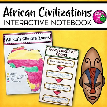 African Civilizations Interactive Notebook Unit 6th Grade INB