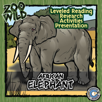 African Elephant -- 10 Resources -- Coloring Pages, Readin