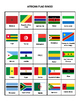 African Flag Bingo--12 cards
