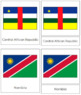 African Flags: 3-Part Cards