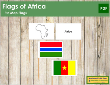 African Flags - Pin Map Flags