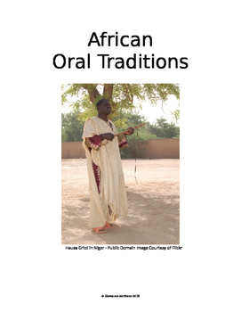 African Oral Traditions Bundle:  Culture of Africa