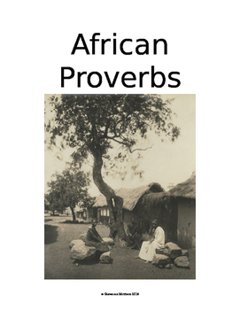 African Proverbs:  Culture of Africa