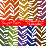 African Safari A4 size Digital Papers (Stripes/Animal Stripes)