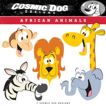 African Animals Clip Art Safari Set