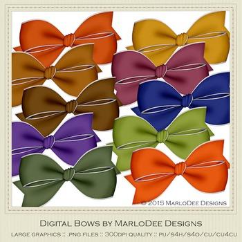 African Safari Colors Digital Bow Graphics package 2