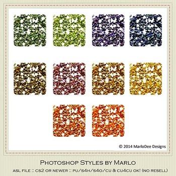 African Safari Colors Glitter Photoshop Style