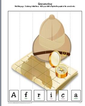 African Safari Junior Printable Packet
