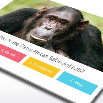 African Safari Trivia [Interactive PowerPoint Game]