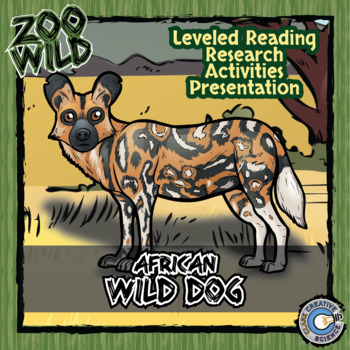 African Wild Dog -- 10 Resources -- Coloring Pages, Readin