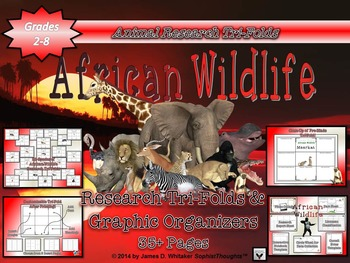 African Wildlife Research Tri-Folds and Graphic Organizers
