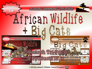 African Wildlife & Big Cats Research Tri-Fold Bundle