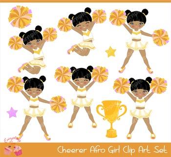 Cheerleaders African - american Cheerers in Gold Golden Ye
