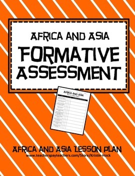 African and Asian Empires - Formative Assessment lesson plan