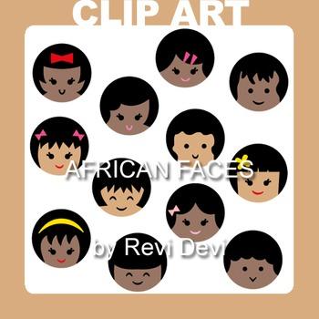 African faces clip art 07005 (teacher resource)