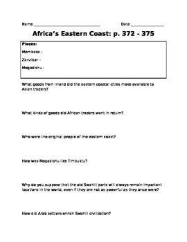 Africa's Eastern Coast