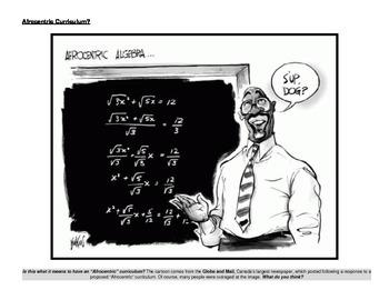 Afrocentric Alegebra Political Cartoon