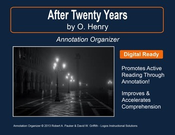"""""""After Twenty Years"""" by O. HENRY: Annotation Organizer"""