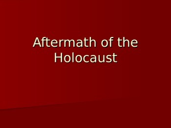 Aftermath of the Holocaust