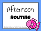 Afternoon Routine Posters (Fish Version)