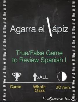 Agarra el lapiz: Partner Game to Review Spanish 1