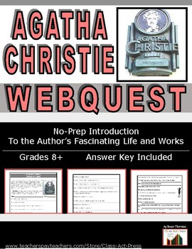 Agatha Christie, Queen of Crime: WebQuest of Life and Work