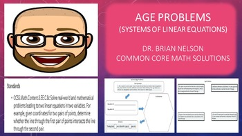 Age Problems (Systems of Linear Equations with Graphic Org