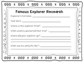 Age of Exploration, Explorers research/webquest