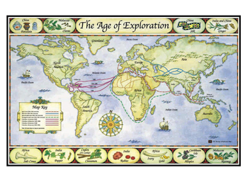 Age of Exploration Map Poster