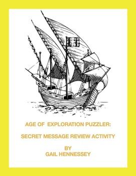 Age of Exploration: Secret Message Review Activity