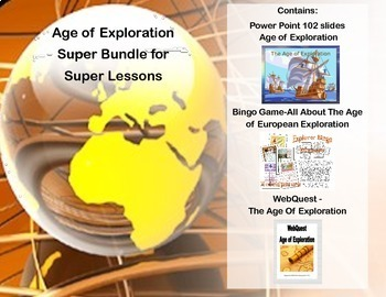 Age of Exploration Super Bundle- Power Point, Bingo Game &