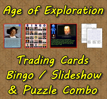 Age of Exploration Trading Cards, Bingo/Slideshow and Puzz